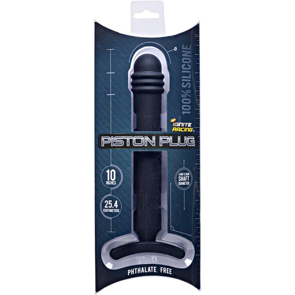 "SI Novelties Ignite Racing Piston Anal Plug 10"" Black - View #1"
