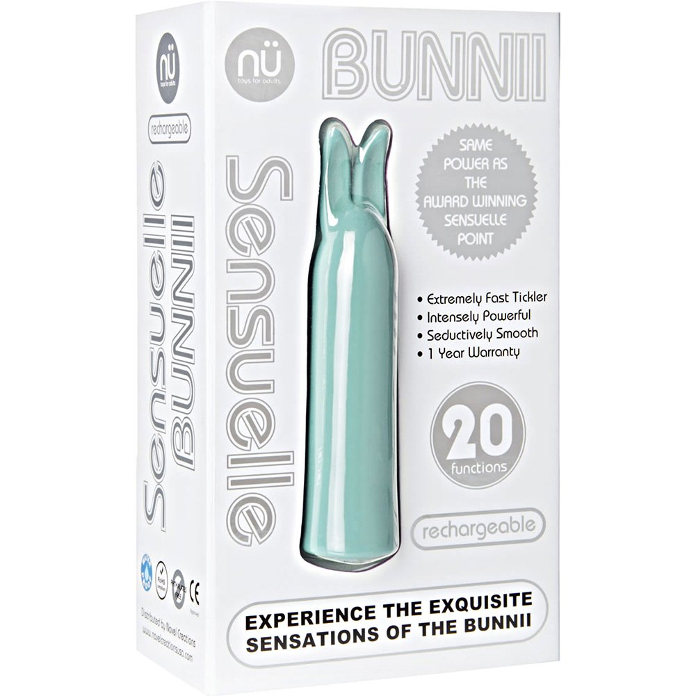 NU Sensuelle Bunnii Intensely Powerful Personal Vibrator Teal - View #4