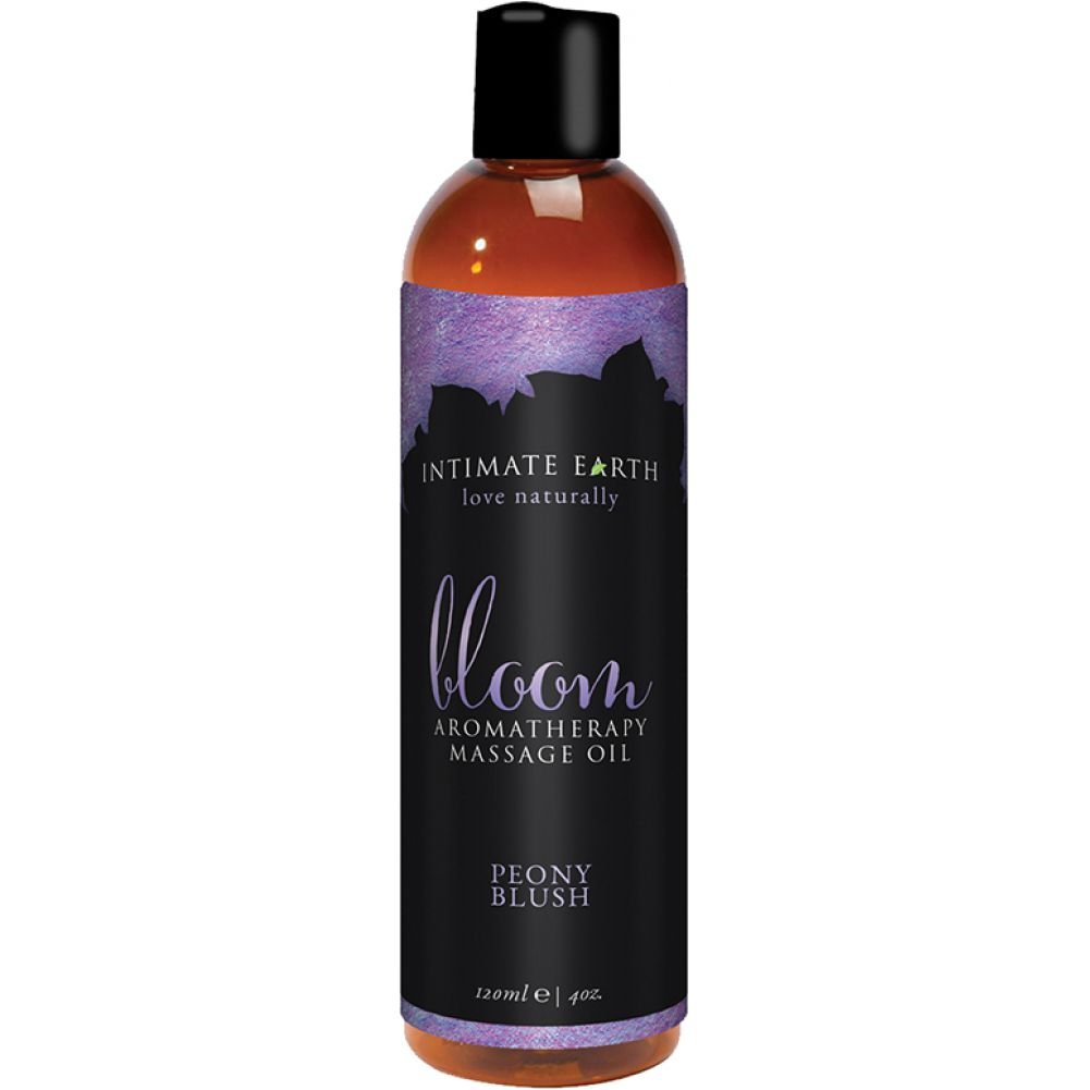 Intimate Earth Bloom Aromatherapy Massage Oil 4 Fl.Oz 120 mL Peony Blush - View #1