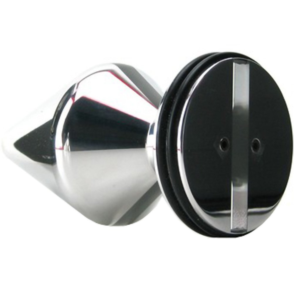 "ElectraStim Electro Sex Mini Butt Plug 2.5"" Silver - View #3"