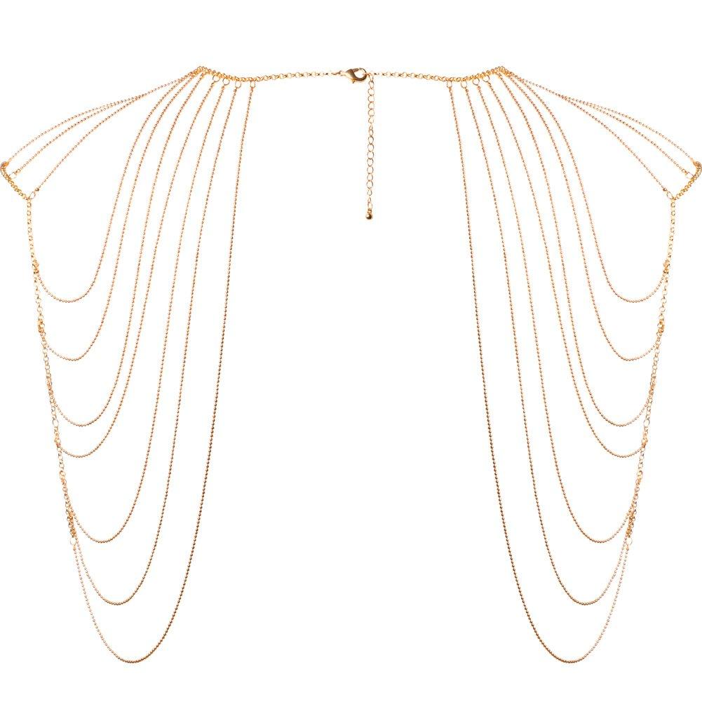 Bijoux Indiscrets Magnifique Shoulder Jewelry One Size Gold - View #2
