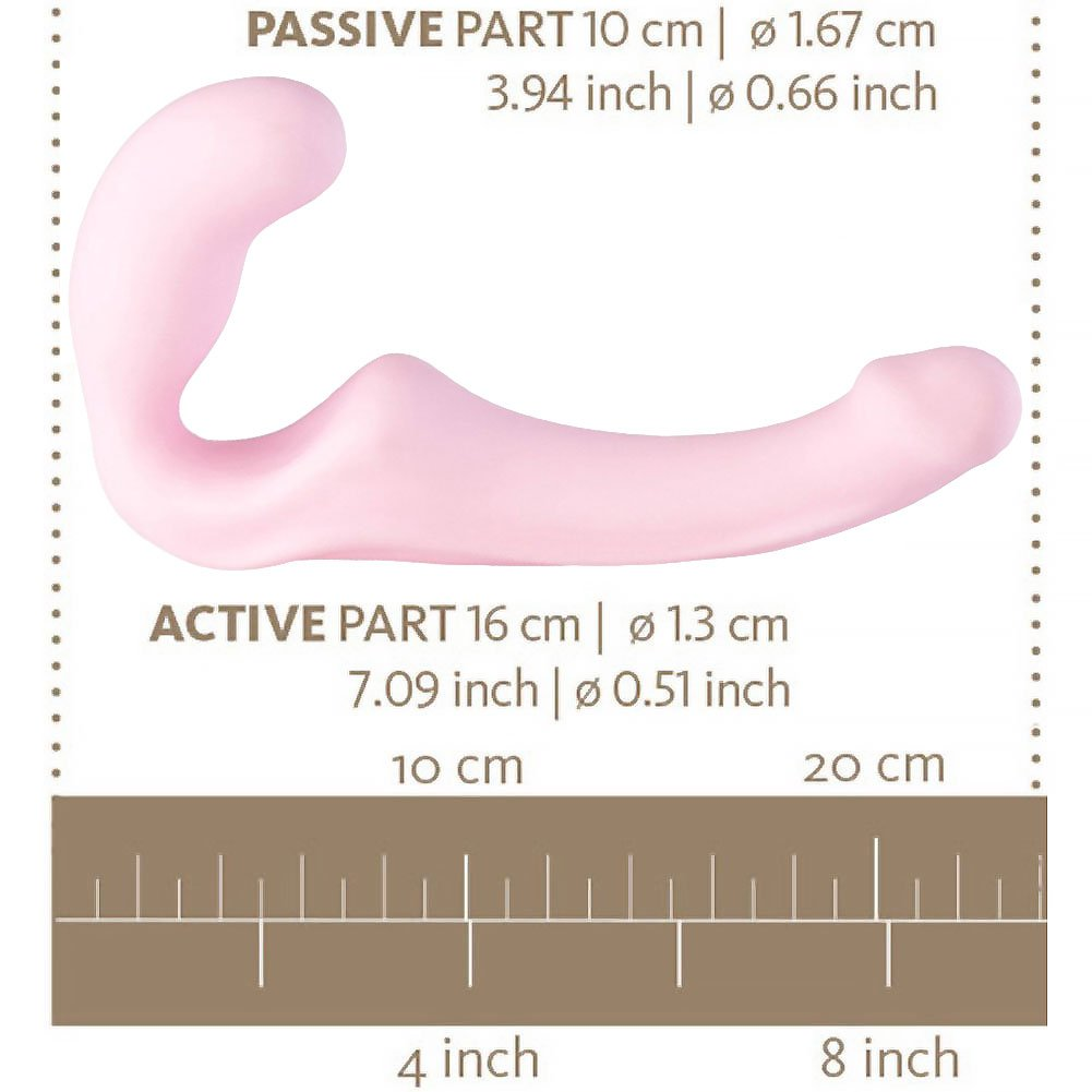 Fun Factory Share Strapless Strap-On Silicone Dildo Baby Rose - View #1