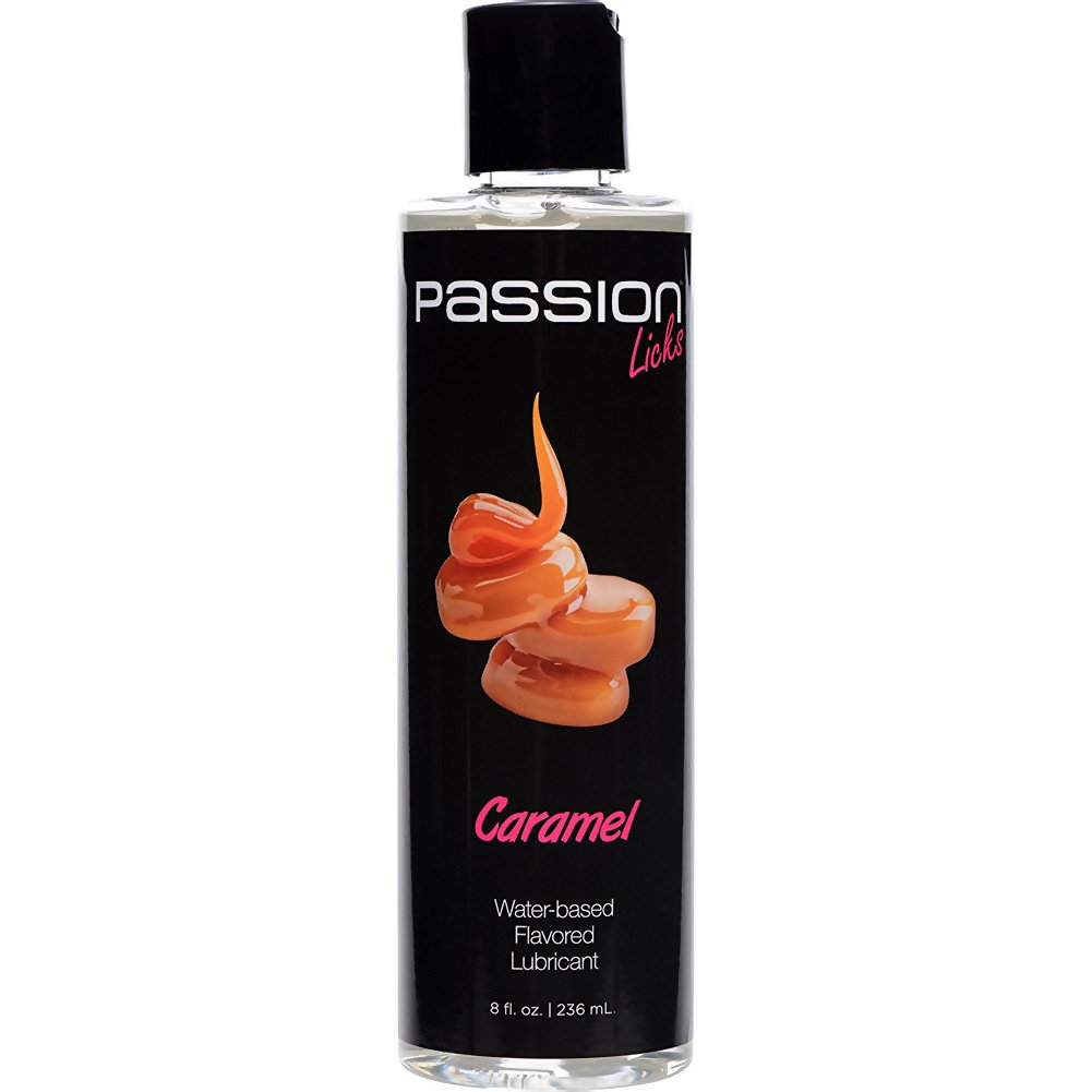 Passion Licks Water Based Flavored Lubricant 8 Fl.Oz 236 mL Caramel - View #2