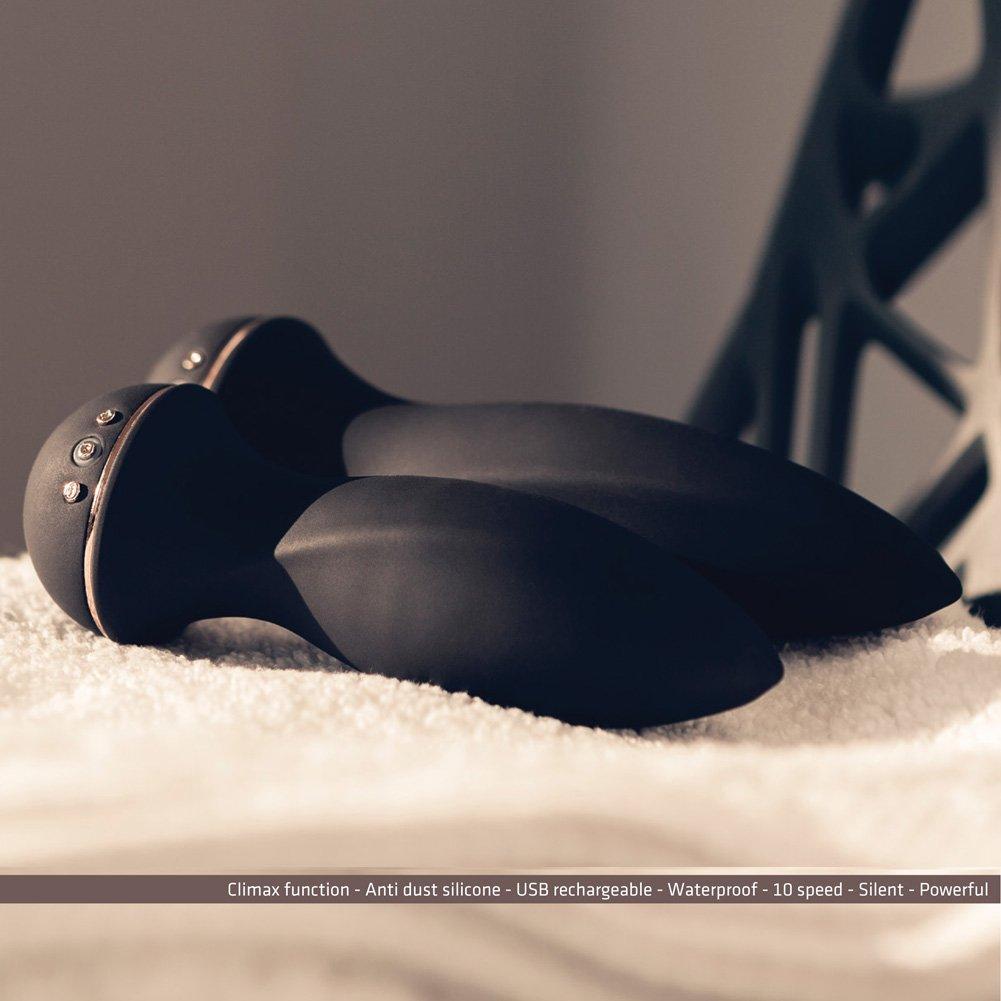 "VIVE Zesiro Silicone USB Rechargeable Anal Vibrator 5.5"" Purple - View #4"