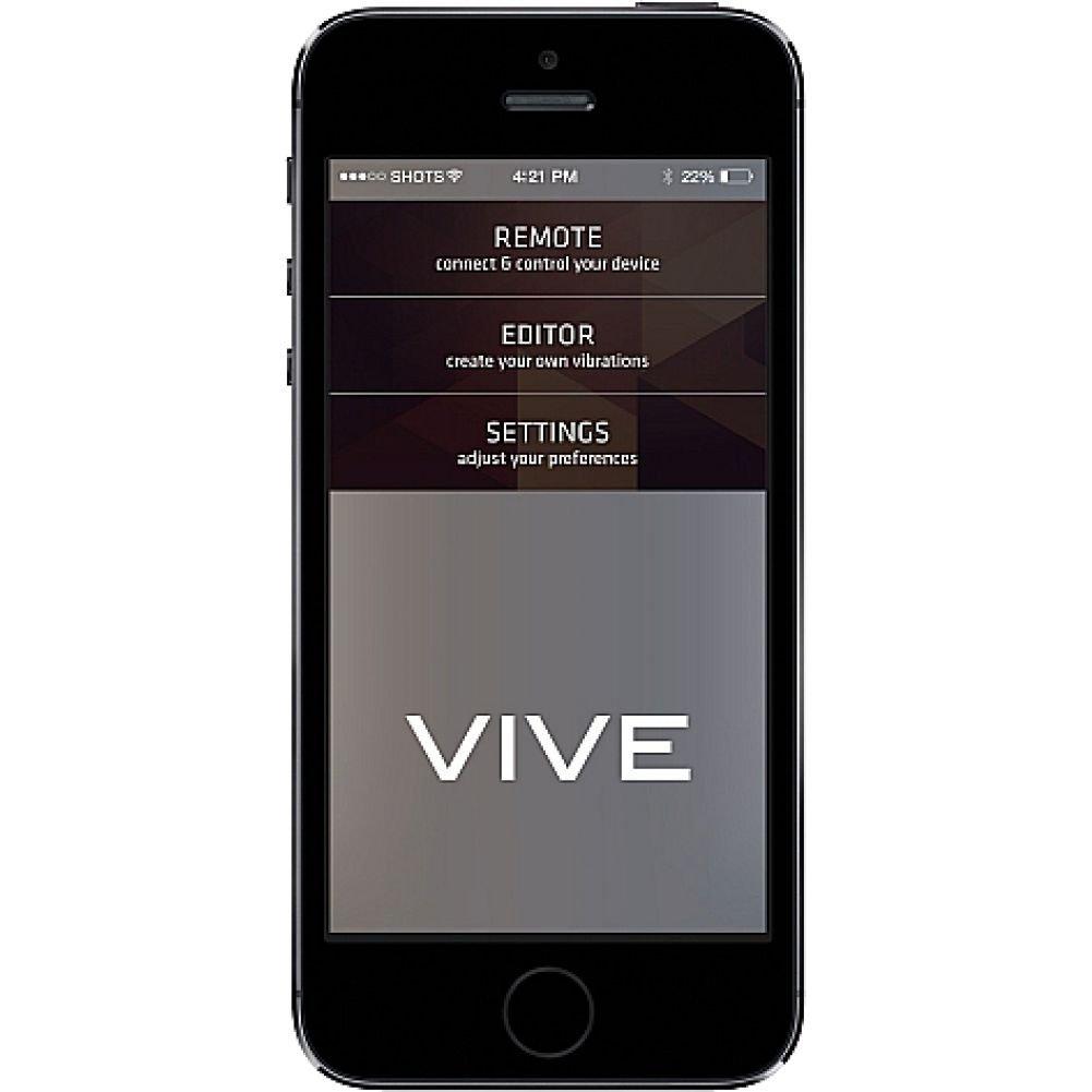 "VIVE Nea Smart Rechargeable Vibrating Kegel Exerciser 6.5"" Black - View #3"