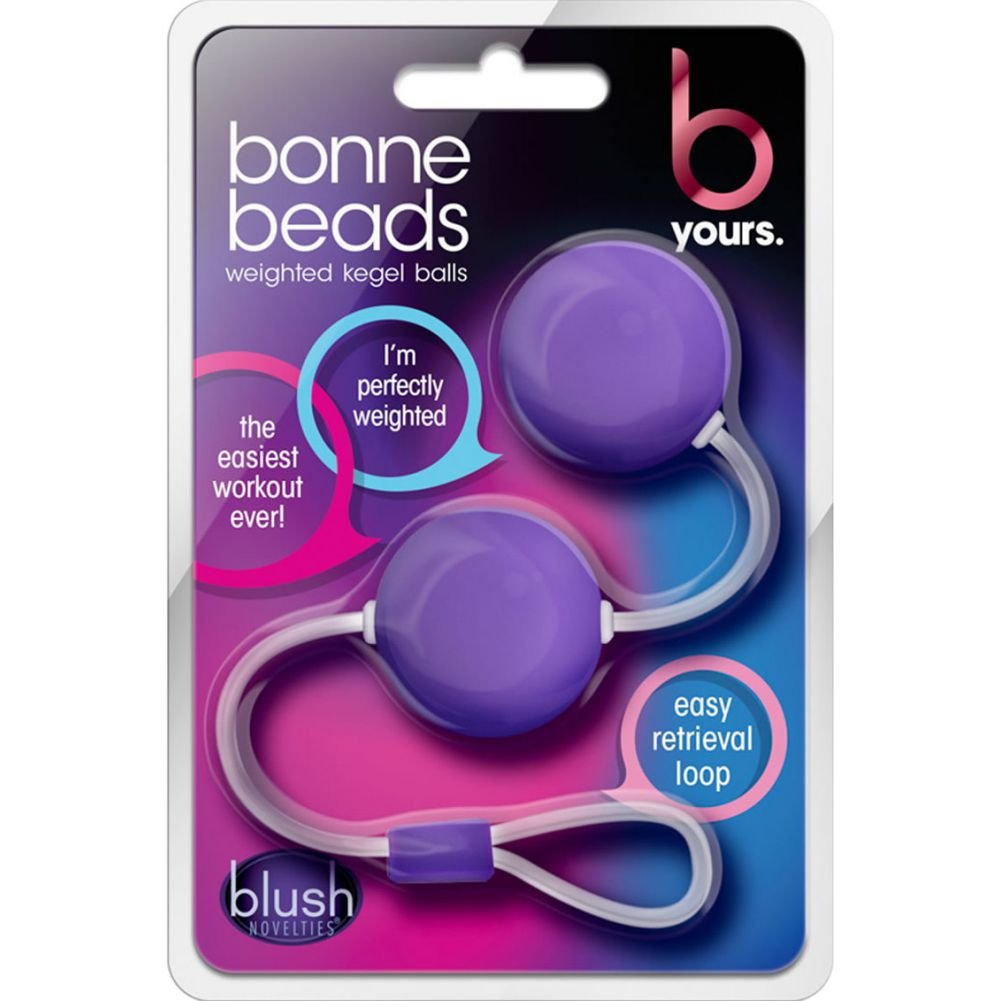 "Be Yours Bonne Beads Weighted Kegel Balls 4.25"" Purple - View #1"