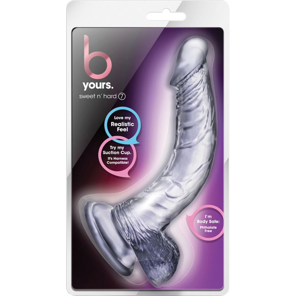 "B Yours Sweet N Hard Realistic Dildo 7"" Clear - View #1"