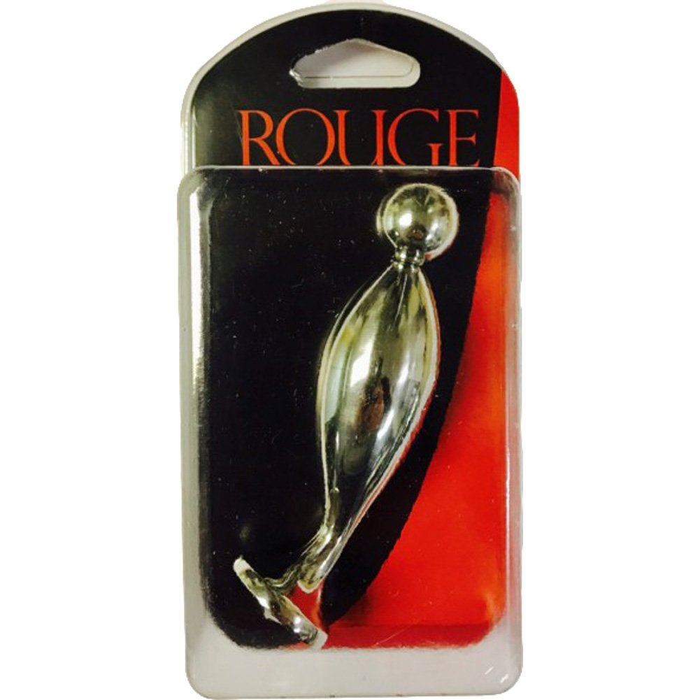 "Rouge Stainless Steel Fish Tail Butt Plug Large 5"" Silver - View #3"