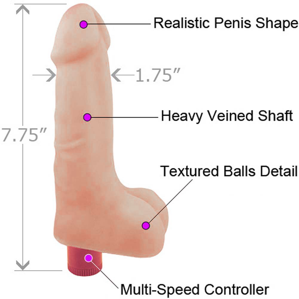 "Blush X5 Ultra Soft Vibrating Cock 7"" Natural Flesh - View #1"