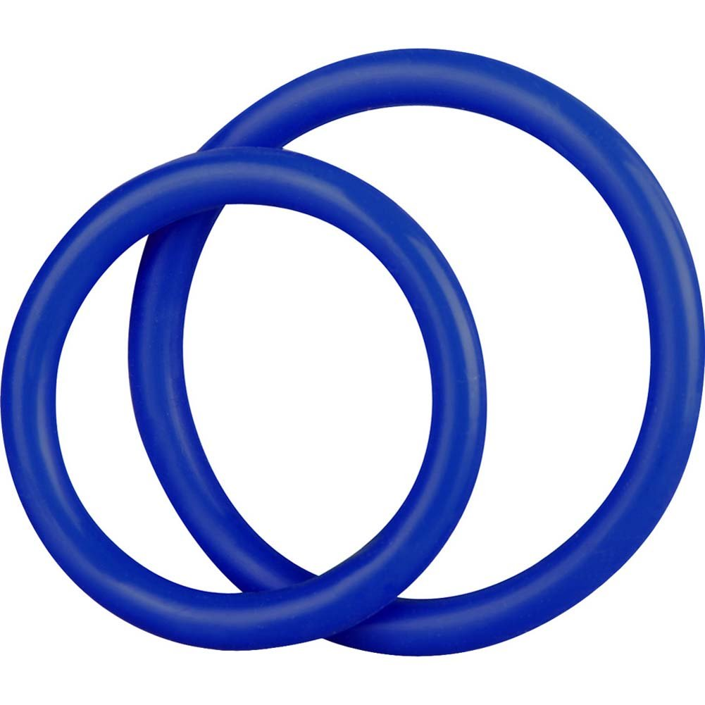 BlueLine C and B Gear Silicone Cock Ring Set Blue - View #1