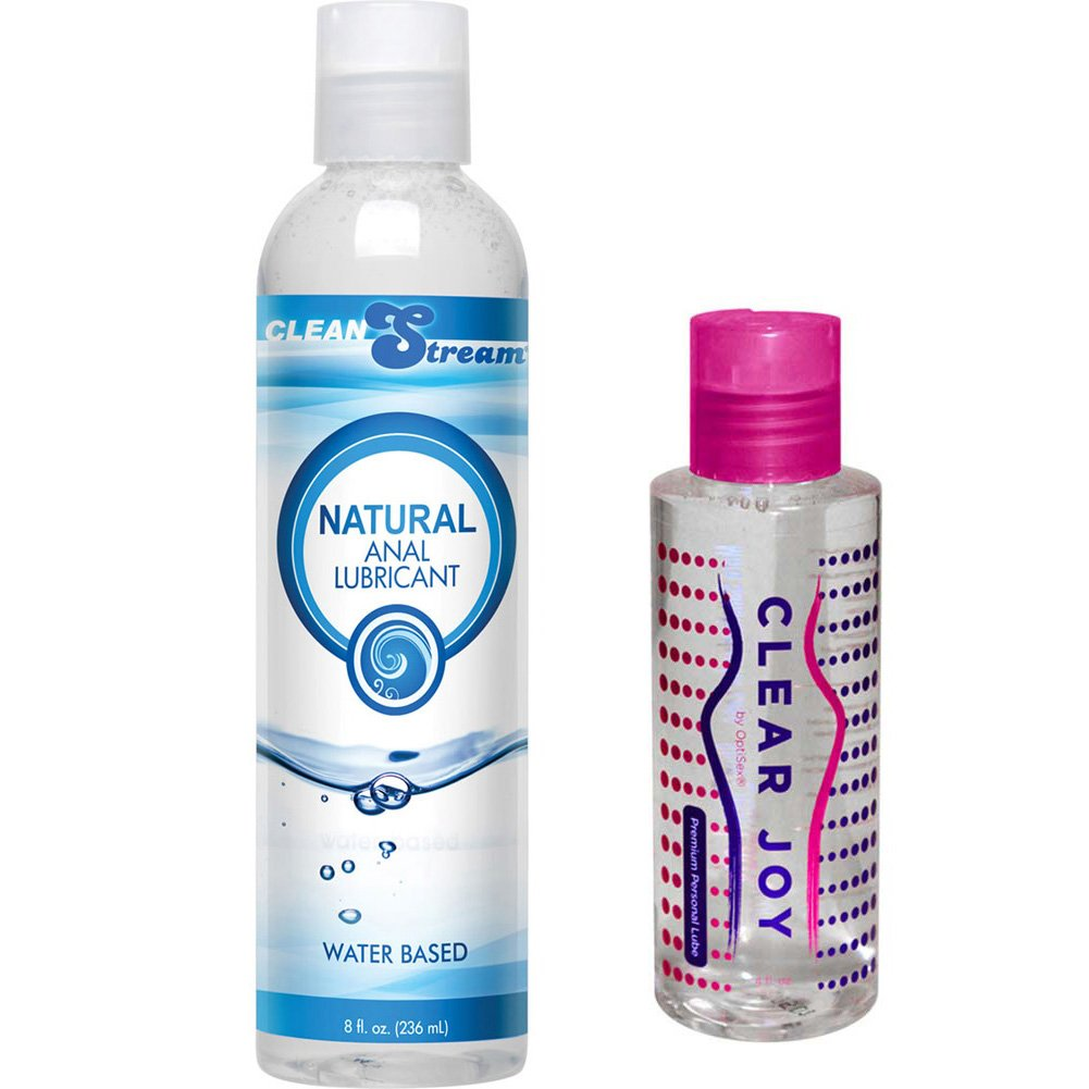 CleanStream Natural Anal Lube 8 Oz and Clear Joy Premium Personal Lube 4 Oz Combo - View #2