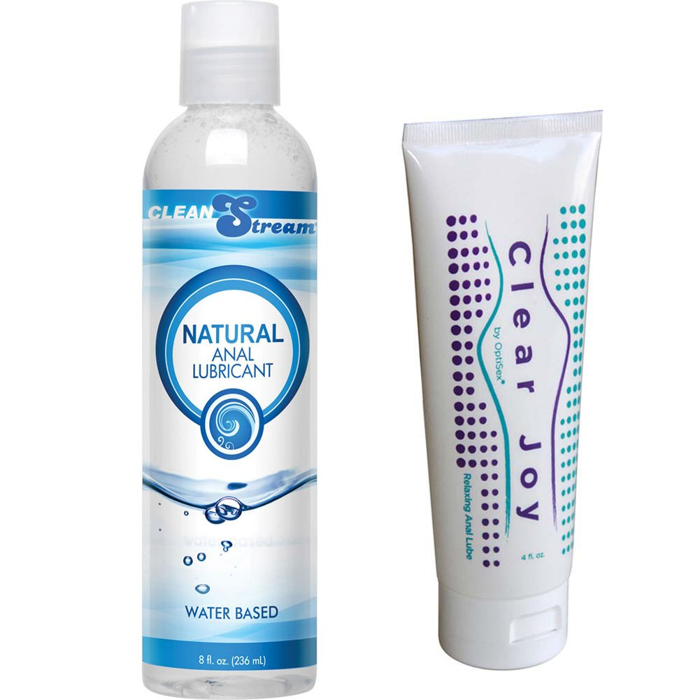 CleanStream Natural Anal Lube and Clear Joy Relaxing Anal Lube Combo - View #2