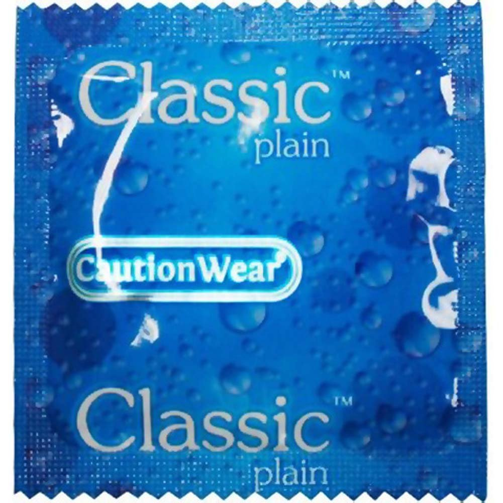 CautionWear Classic Plain Premium Lubricated Latex Condoms 3 Pack - View #2
