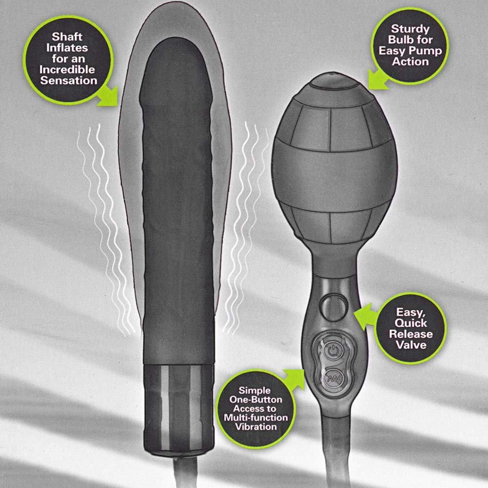 "TitanMen Tools Vibrating Inflatable Wonder 7.75"" Black - View #3"