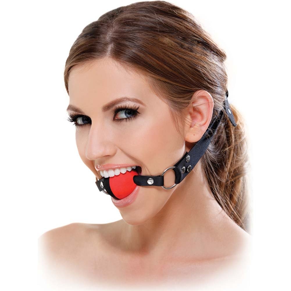 Fetish Fantasy Series Two Tone Ball Gag Red - View #2