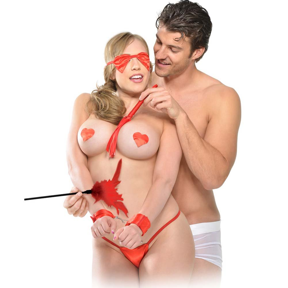 Fetish Fantasy Series Sweetheart Bondage Kit for Loving Couples Red - View #2