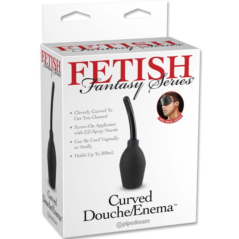 Fetish Fantasy Series Curved Douche Enema Black - View #3