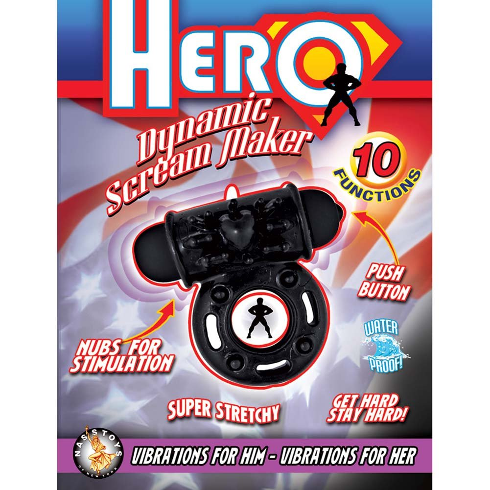 Hero Dynamic Scream Maker Vibrating Ring Black - View #1