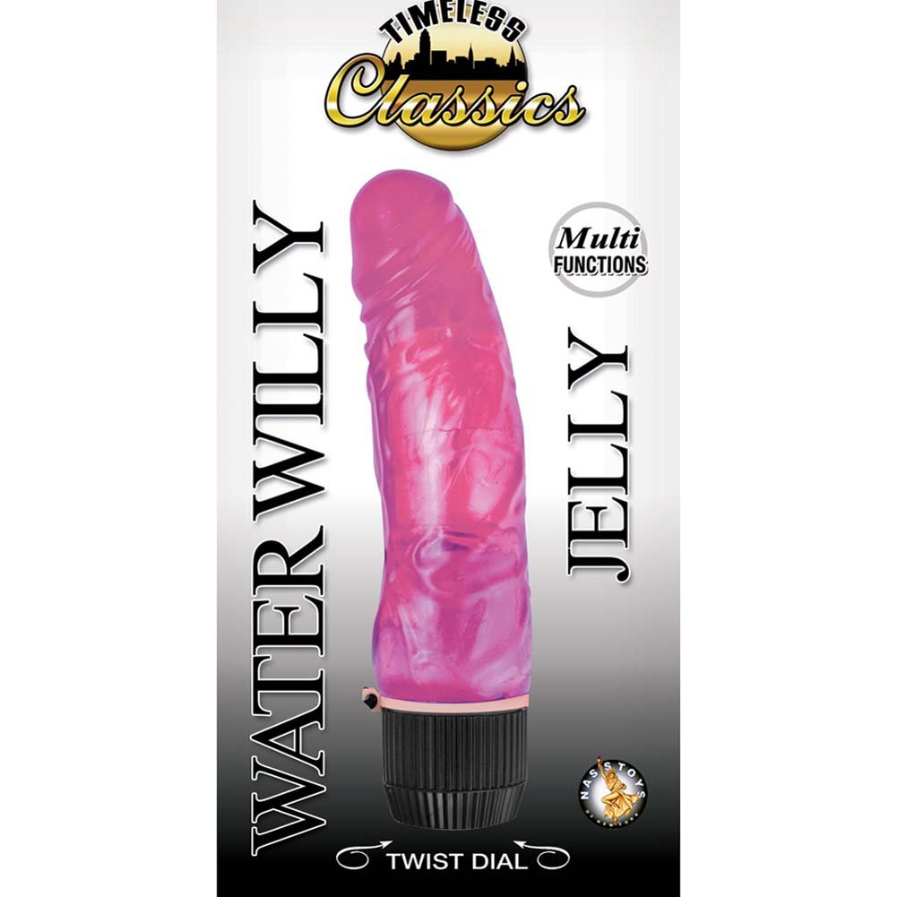 "Timeless Classics Water Willy Jelly Vibe 7"" Pink - View #1"
