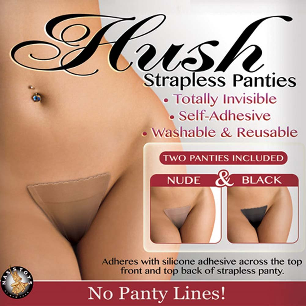 Hush Strapless Panties Medium-Large Size Nude and Black - View #2