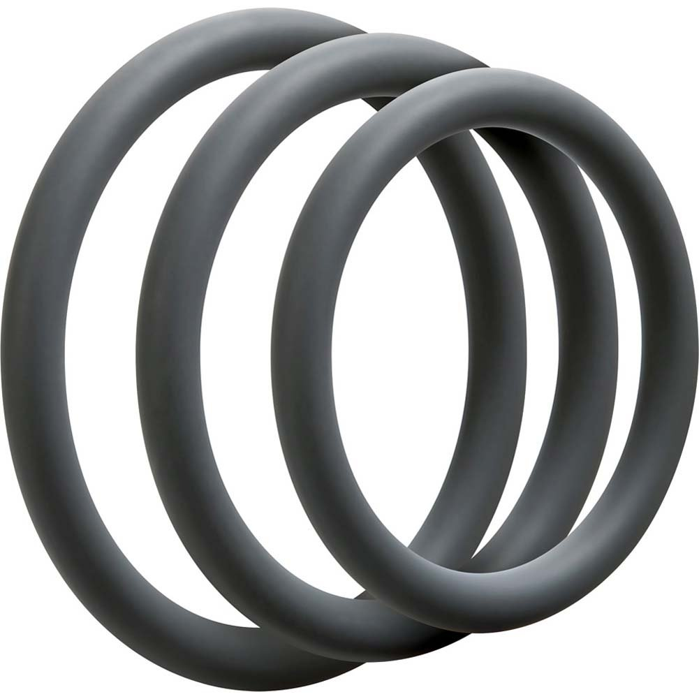 OptiMALE 3 Silicone C-Rings Set Thin Slate - View #2