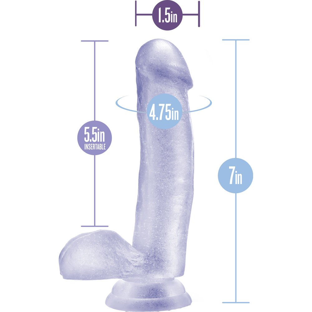 "Blush B Yours Sweet N Hard 1 Cock With Suction Cup 7"" Clear - View #1"