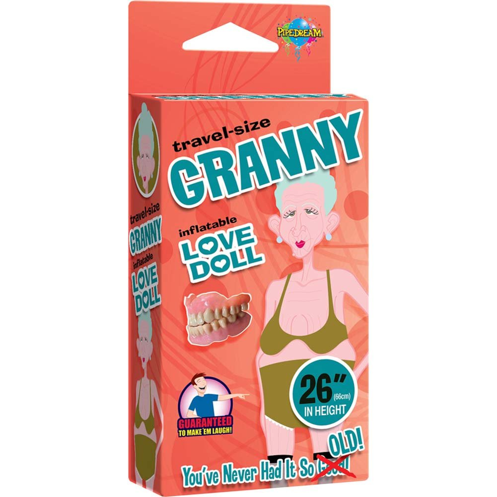 Travel Size Granny Inflatable Love Doll - View #3