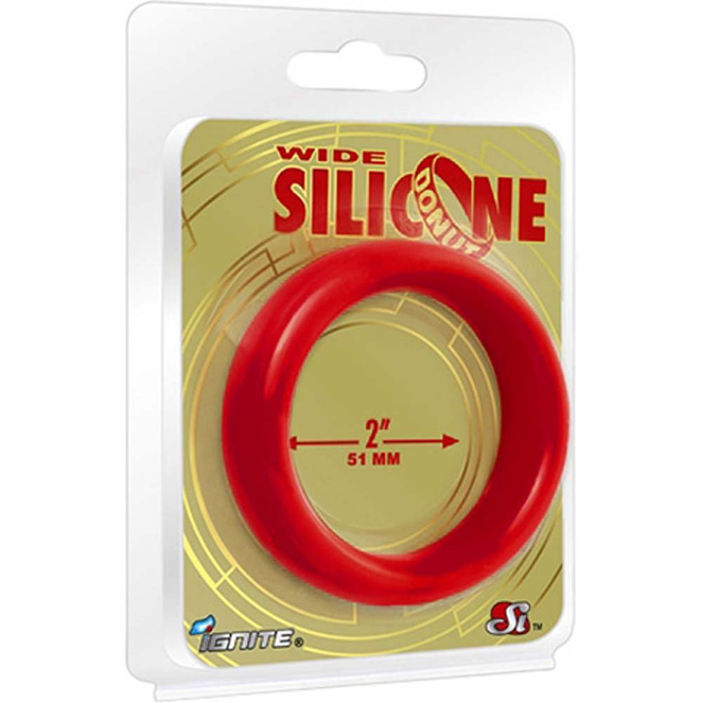 "Ignite Wide Silicone Donut 2"" Red - View #1"