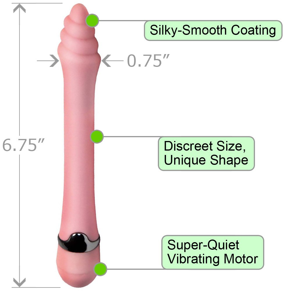 "OptiSex Vibrating Twister Female Vibrator 6.75"" Pink - View #1"