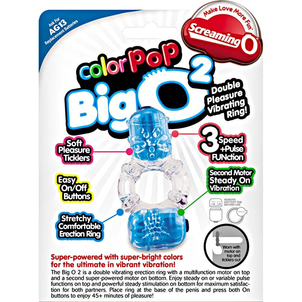 Screaming O ColorPoP Big O2 Vibrating Ring Assorted Colors - View #1
