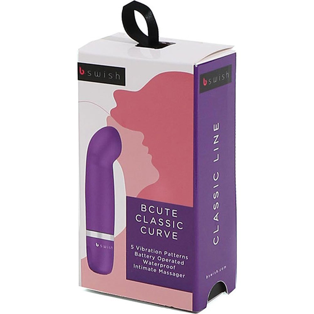 "BCute Classic Curve Silicone Vibe 4.5"" Royal Purple - View #4"