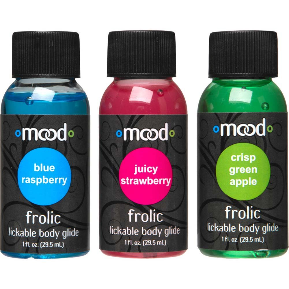 Mood Frolic Lickable Body Glides 3 Pack Bottles 1 Fl. Oz. Each - View #2
