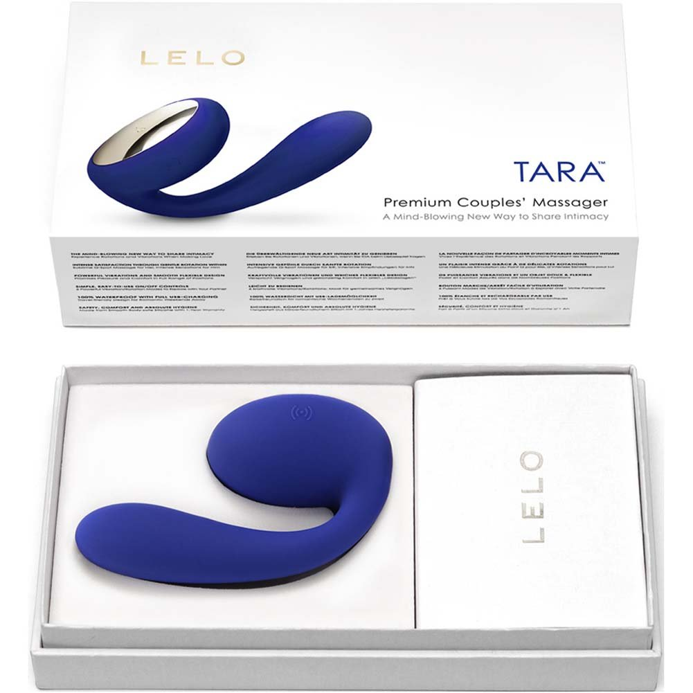Lelo Tara Rechargeable Silicone Couples Massager Midnight Blue - View #4