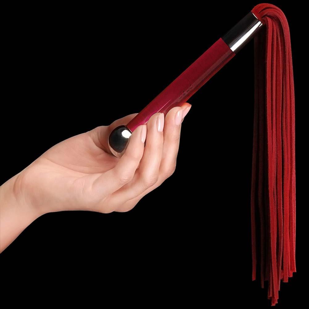 Lelo Sensua Suede Whip Red - View #3