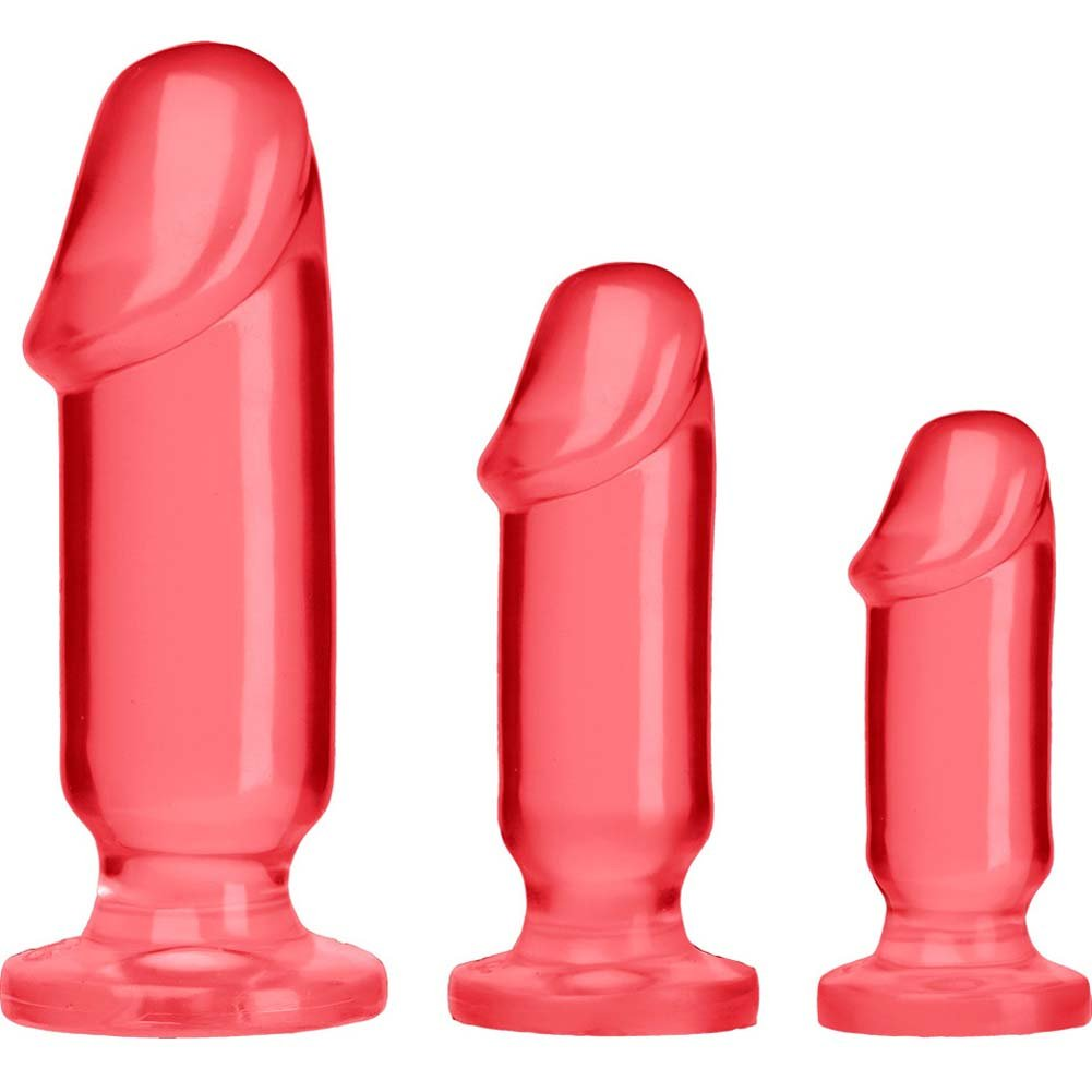 Crystal Jellies Anal Starter Kit With 3 Butt Plugs Pink - View #2