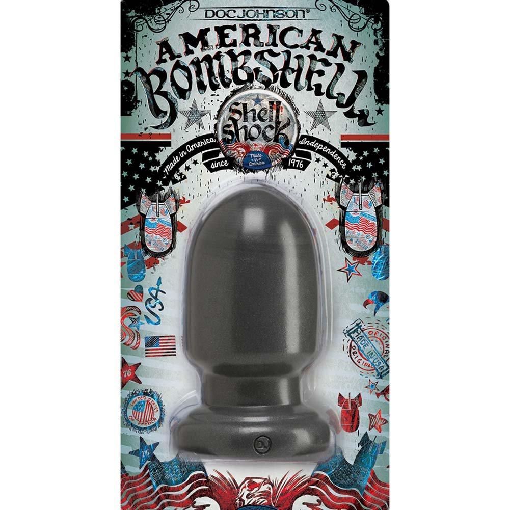 "American Bombshell Shellshock Small Butt Plug 6"" Gun Metal - View #1"