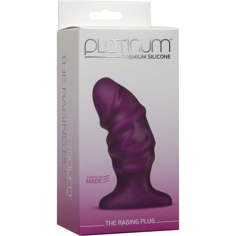 "Platinum Premium Silicone the Raging Dong 4"" Purple - View #1"
