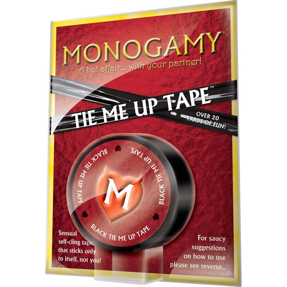 Monogamy Tie Me Up Tape 20 Yards Kinky Black - View #1