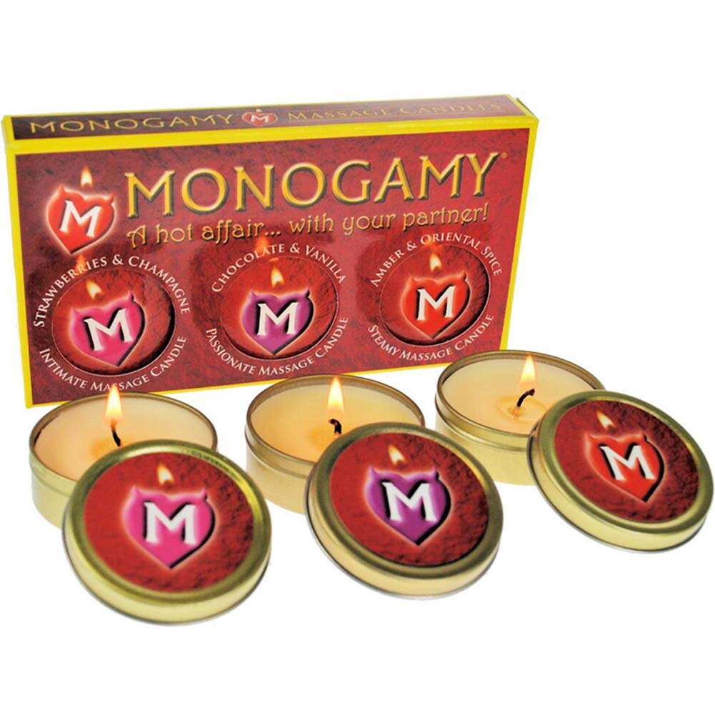 Monogamy Massage Candle Set for Lovers Pack of 3 Scented Candles - View #1