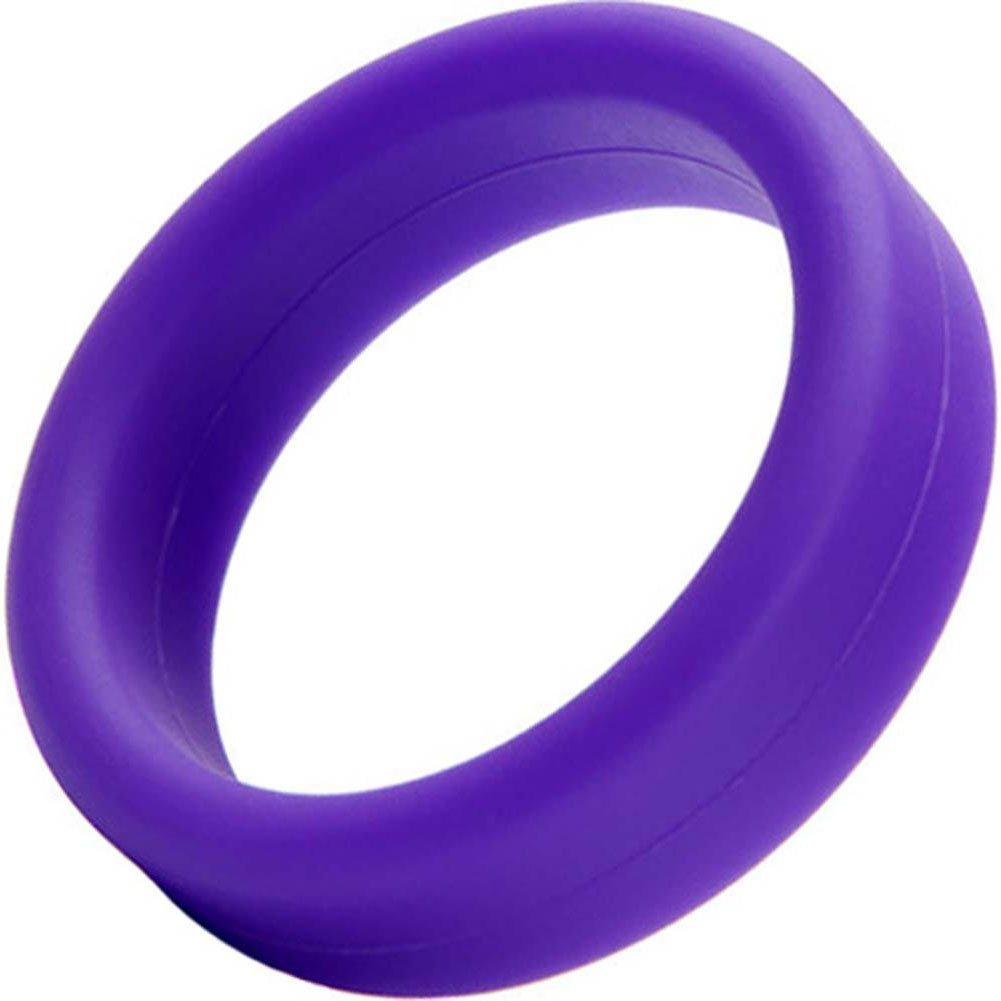 "Tantus Super Soft Silicone C-Ring 1.5"" Purple - View #2"