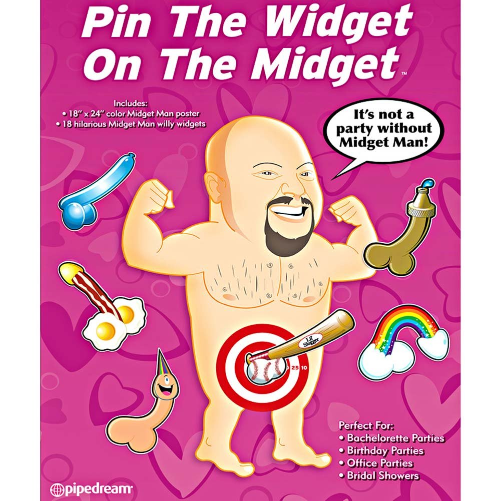 Bachelorette Party Favors Pin the Widget On the Midget - View #2