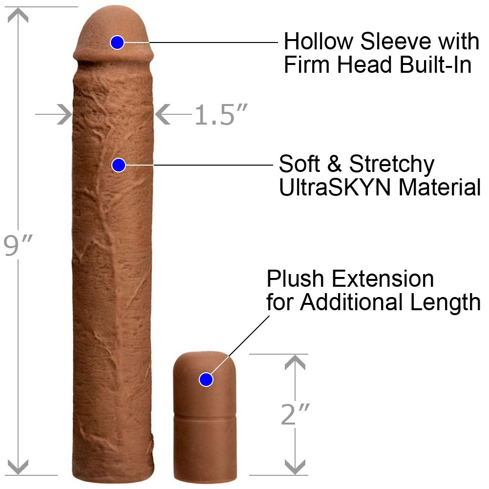 "Xtend It Kit 9"" UR3 Penis Sleeve and 2.5"" Penis Extension Brown - View #1"