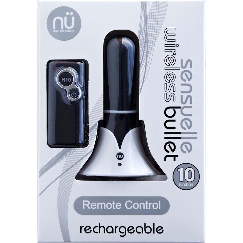 "Nu Sensuelle 10 Function Rechargeable Personal Bullet Vibrator 3"" Black - View #4"