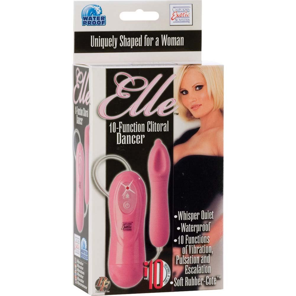 Elle 10 Function Clitoral Dancer Waterproof Vibe Pink - View #1