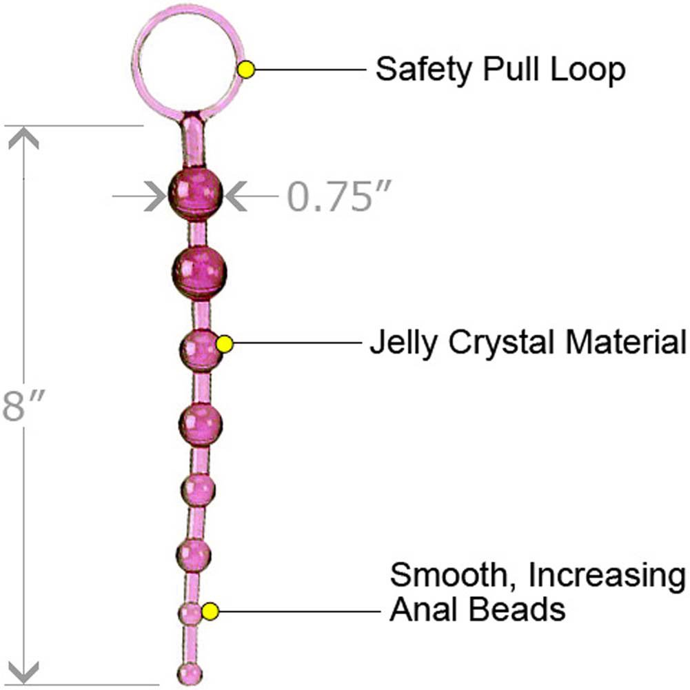 "ShaneS World Anal 101 Intro Jelly Beads 8"" Pink - View #1"