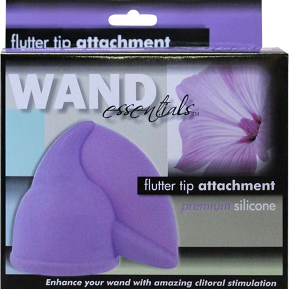 Wand Essentials Flutter Tip Wand Attachment Purple - View #1