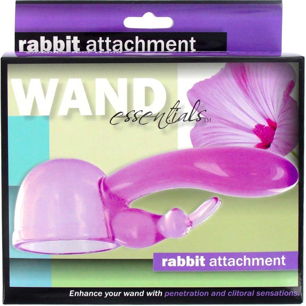 Wand Essentials Rabbit Dual Stimulation Attachment for Her Purple - View #3