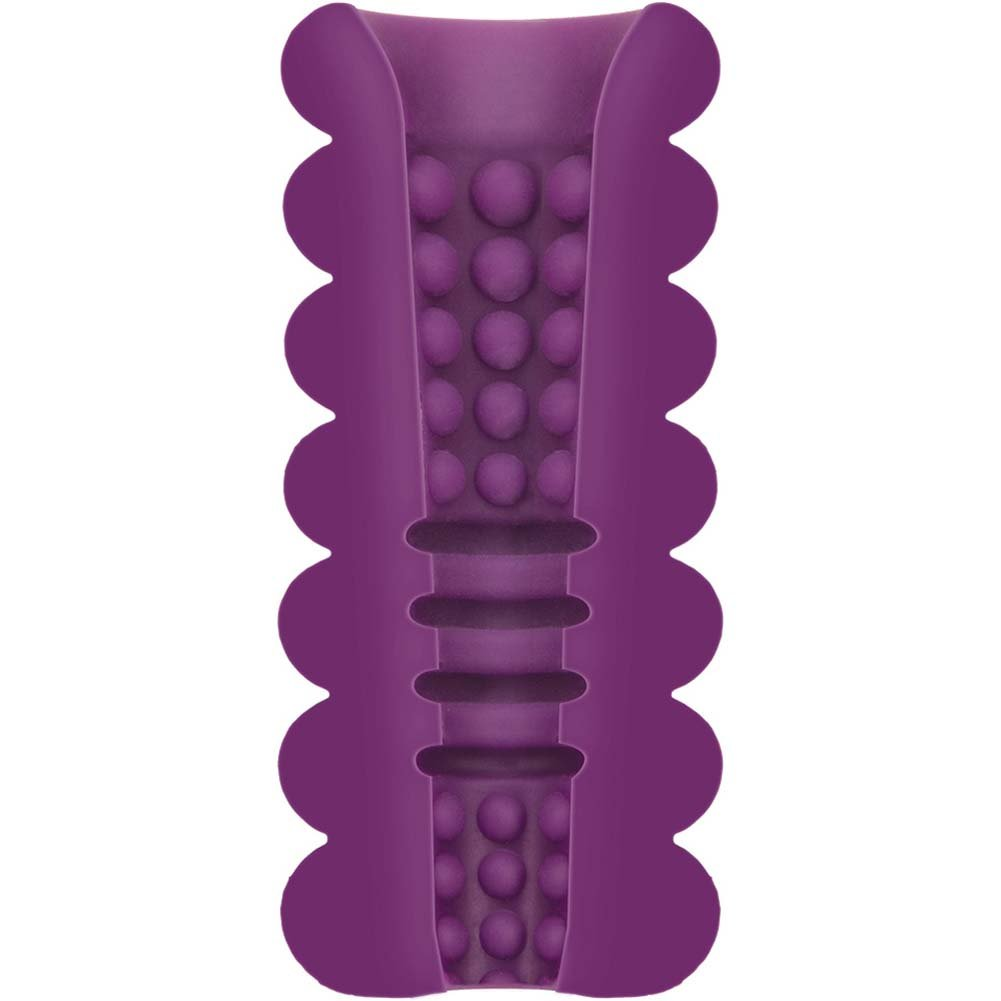 Mood Thrill UR3 Textured Masturbator for Men Purple - View #1