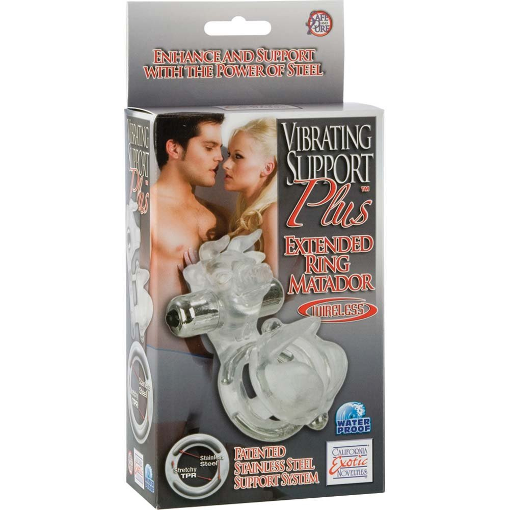 Vibrating Support Plus Extended Ring Matador Clear - View #4