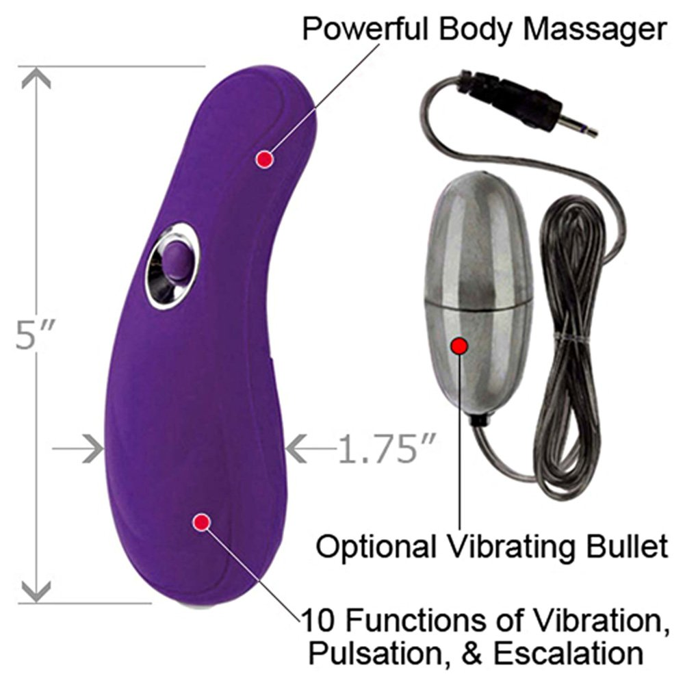 CalExotics Body and Soul 10 Function Transcend Vibrating Massager Purple - View #1
